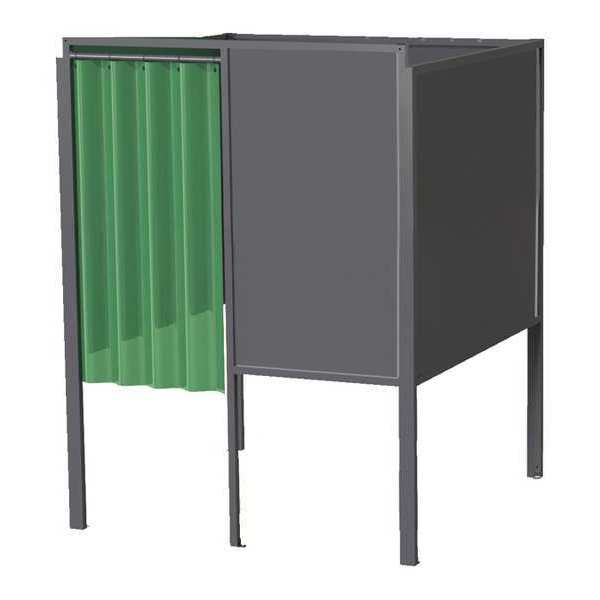 Greene Manufacturing, Inc. Welding Booth, 5ft.x6ft., Wall Mounted GB-7256.01.S