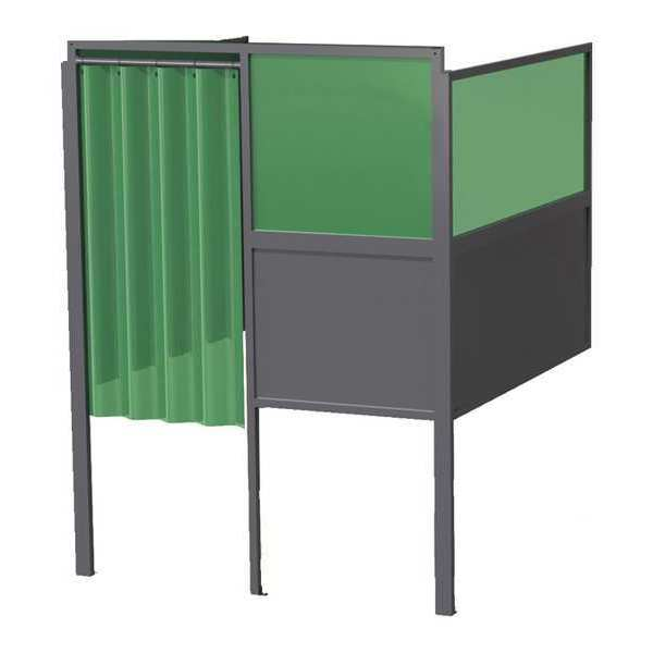 Greene Manufacturing, Inc. Welding Booth, 4ft.x5ft., Wall Mounted GB-724.02.S-DM.STL