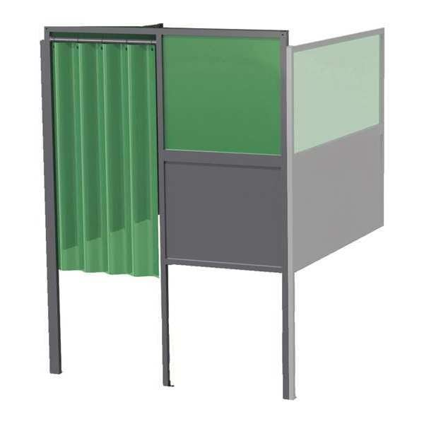 Greene Manufacturing, Inc. Welding Booth, 4ft.x4ft., Wall Mounted GB-74.A-DM