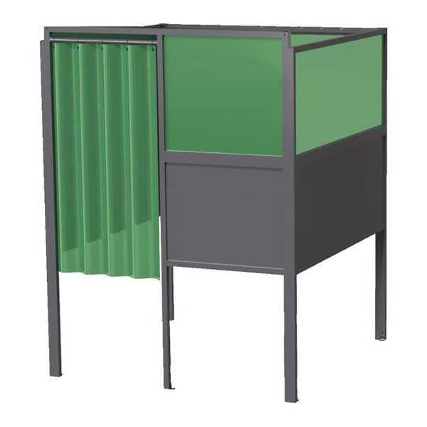 Greene Manufacturing, Inc. Welding Booth, 4ft.x5ft., Wall Mounted GB-724.S-DM