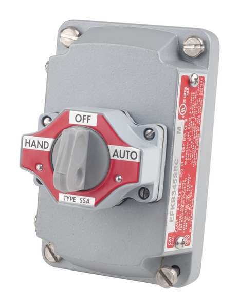 Appleton Electric Selector Switch with Cover, 3 Position EFKB-345-SRC