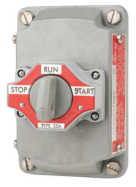 Appleton Electric Selector Switch with Cover, 3 Position EFKB-637-SRC