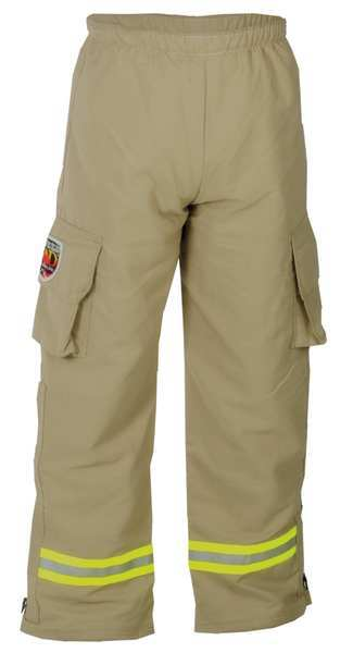 Fire-Dex USAR Pant, Tan, S, Inseam 30 In. PPUSARNOMEXTAN-S