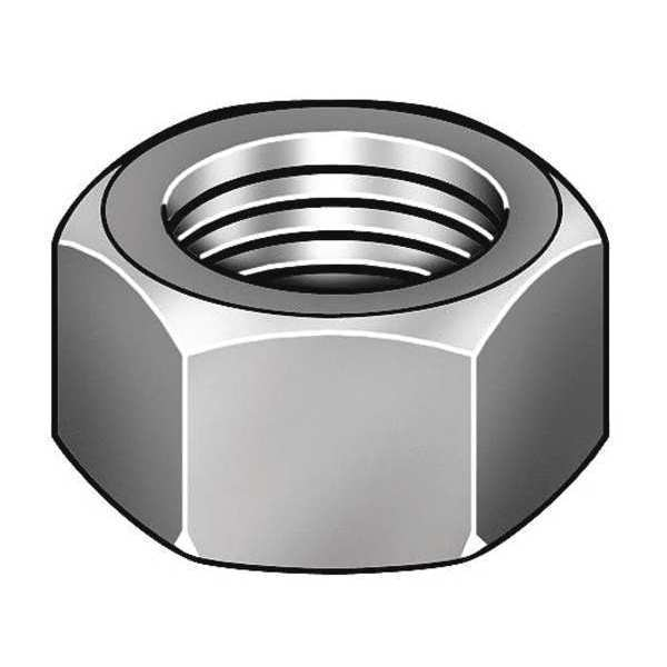 """Fabory 3/8""""-16 Grade 2 Hot Dip Galvanized Finish Carbon Steel Hex Nuts,  50 pk. U08111.037.0001"""