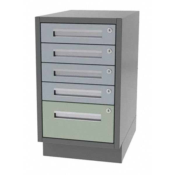"Greene Manufacturing, Inc. Cabinet, 5 Drawer, 16"" W x 21"" D x 28"" H DT-1621-4010"