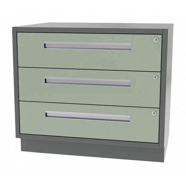 "Greene Manufacturing, Inc. Cabinet, 3 Drawer, 36"" W x 21"" D x 28"" H DT-3621-0030"