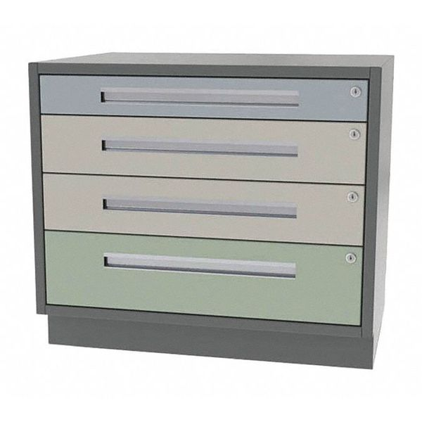 "Greene Manufacturing, Inc. Cabinet, 4 Drawer, 32""Wx18""Dx28""H DT-3218-1210"