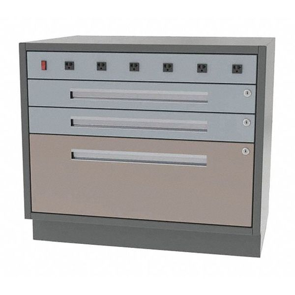 """Greene Manufacturing, Inc. Cabinet, 3 Drawer, 42""""Wx24""""Dx28""""H, No. 50 DT-4224-3001-W"""
