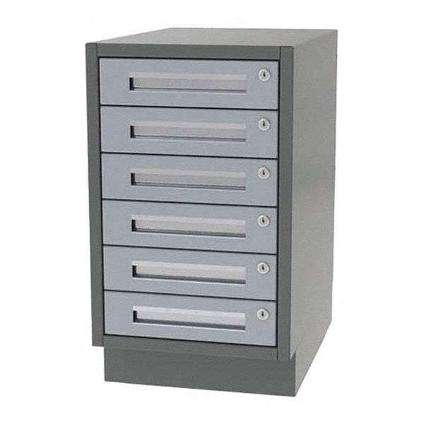 "Greene Manufacturing, Inc. Lab Cabinet, 6 Drawer, 24""Wx21""Dx34""H DTL-2421-6000"