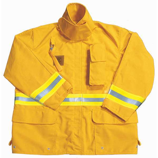 Fire-Dex Turnout Coat, Yellow, 2XL, Nomex FS1J0512