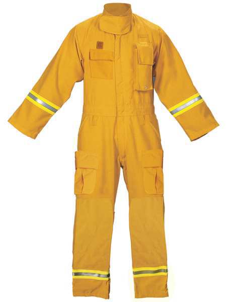 Fire-Dex Turnout Coverall, Yellow, L FS1C059PKHL