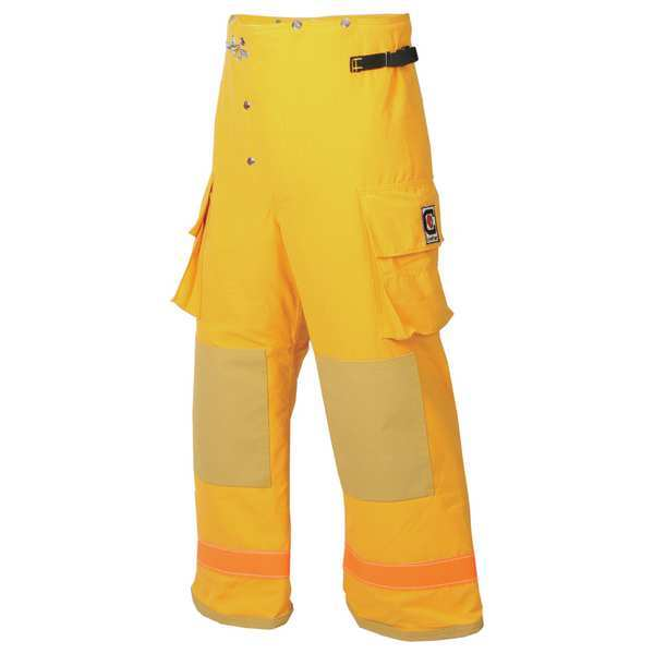 Fire-Dex Turnout Pants, Yellow, S, Inseam 29 In. 35M6P732-S