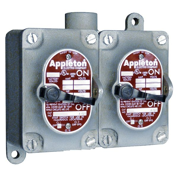 Appleton Electric Tumbler Switch, EDS Series, 1 Gang, 3-Way EDS110F3W