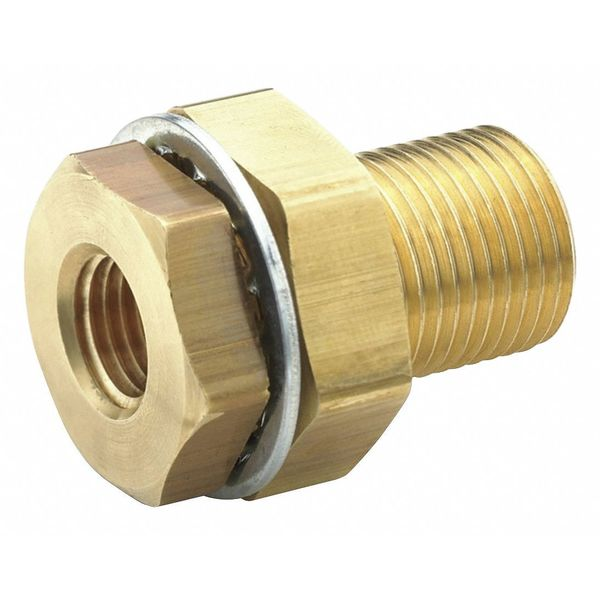 "Parker 1/4"" FNPT Brass Anchor Coupling 207ACBHS-4"