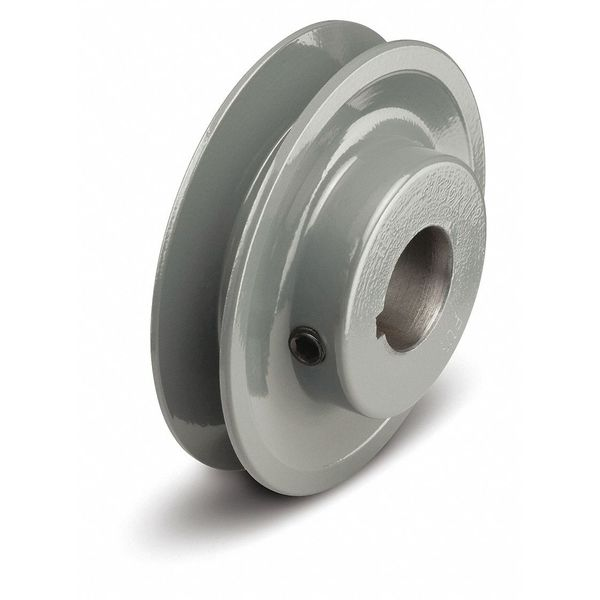 """Tb Wood'S 5/8"""" Fixed Bore 1 Groove Standard V-Belt Pulley 4.25 in OD BK4558"""