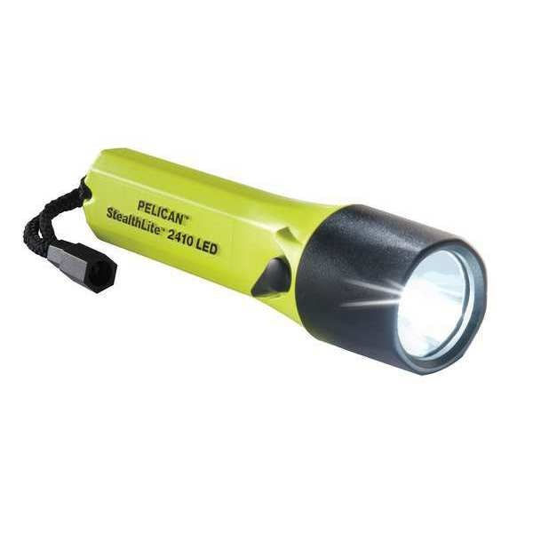 Pelican High Visibility Yellow LED Handheld Flashlight,  Alkaline AA,  183lm 2410