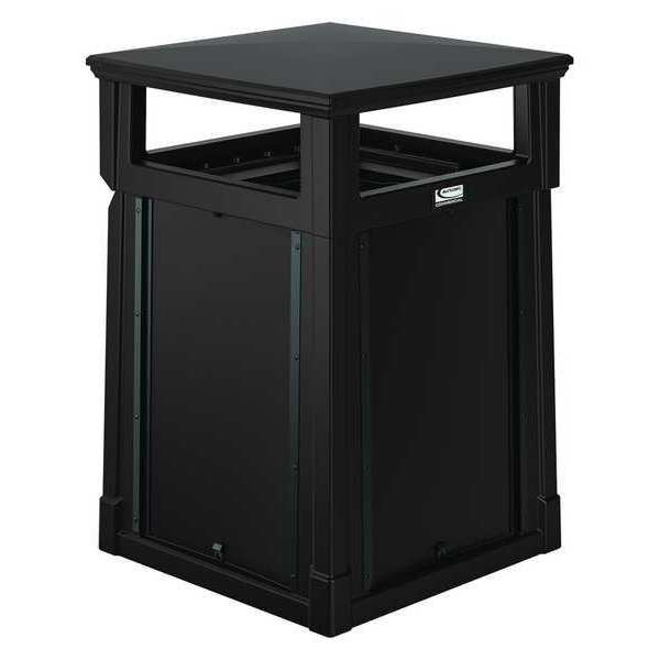Suncast Commercial 35 gal. Roto-molded Square Trash Can ,  Brown RMCC3501