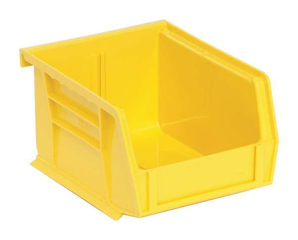 "Quantum Storage Systems Yellow Hang and Stack Bin,  5""L x 4-1/8""W x 3""H QUS200YL"