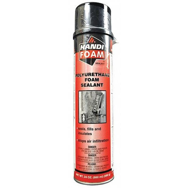 Handi-Foam Spray Foam Sealant, 24 oz, Cream, PK12 P30107G