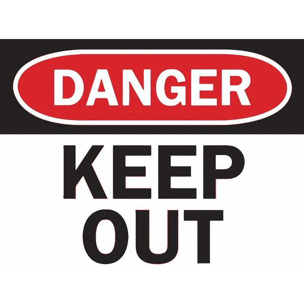Tarifold Sign Inserts,  Danger Keep Out,  PK6 P1949KP