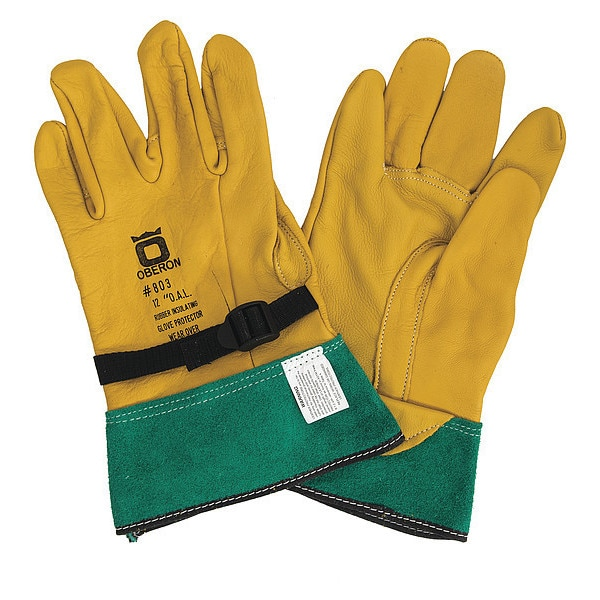 Oberon Company Rubber Electrical Glove Leather Protectors,  Size 12 LP-GA-10-12