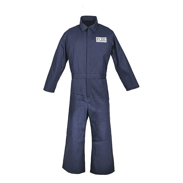 Oberon Company BSX™ Series Fire Resistant Treated Cotton 8 Calorie Arc Flash Coveralls BSA-CBX7NB-RL