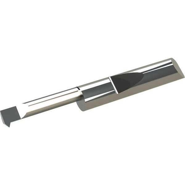 Projection 0.600 0.036 mm 0.014 Micro 100 QIT-100600 Quick Change Internal Single Point Threading Tool 0.100 2.54 mm 0.64 mm Solid Carbide Tool Maximum Bore Depth 32 to 64 Threads per Inch, 15.2 mm Minimum Bore Diameter Offset Point 0.025