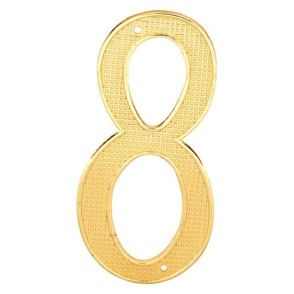 """Primeline House Numbers, """"8"""", 4"""", Brass Finish, PK5 MP4288-5"""