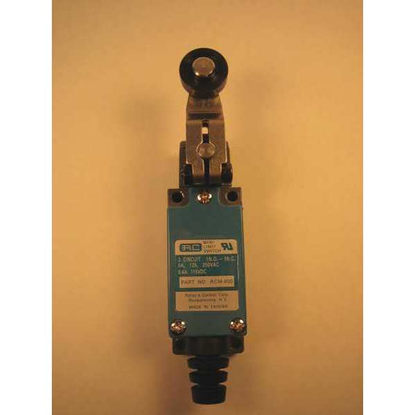 Relay And Control Corp. Limit Switch,  Adjustable Lever,  Roller,  1NC/1NO,  5A @ 250V AC RCM-401