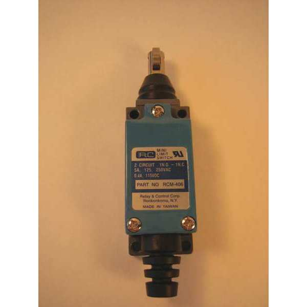 Relay And Control Corp. Limit Switch,  Push Roller,  1NC/1NO,  5A @ 250V AC RCM-406