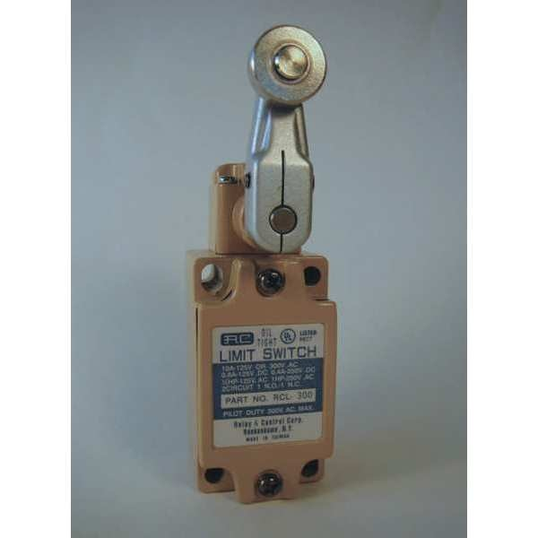 Relay And Control Corp. Limit Switch,  Lever,  Roller,  1NC/1NO,  10A @125V AC RCL-300