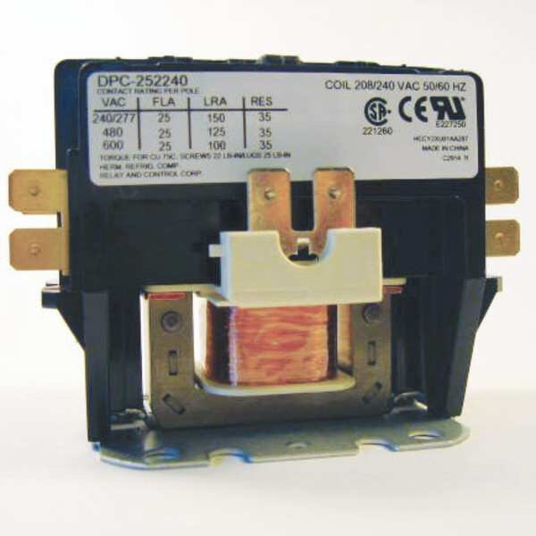 Relay And Control Corp. 240VAC Definite Purpose Contactor 2P 25A DPC-252240