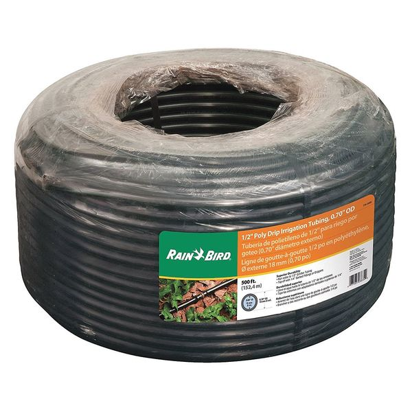 "Rain Bird Drip Irrigation Blank Tubing, .7"", 500 ft. T70-500S"