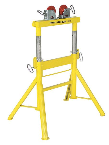 Sumner Roller Head Pipe Stand, 1/2 to 36 In. 780441