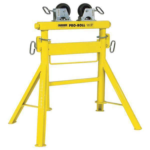 Sumner Roller Head Pipe Stand, 1/2 to 36 In. 780443