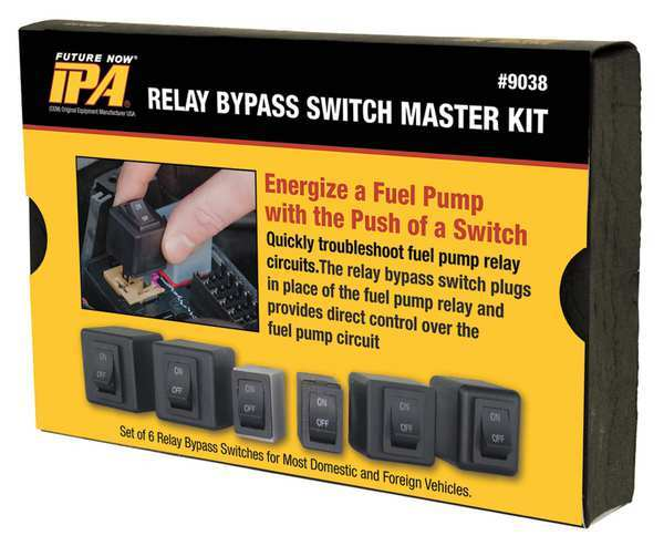 Ipa Fuel Pump Relay Bypas Master Kit,  6 Pc 9038