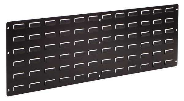 Lewisbins ESD Louvered Panel,  Wall-Mounted,  Black LP1236-CON