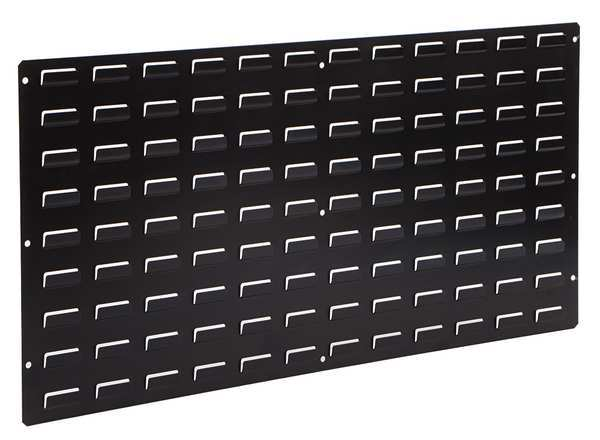 Lewisbins ESD Louvered Panel,  Wall-Mounted,  Black LP1836-CON