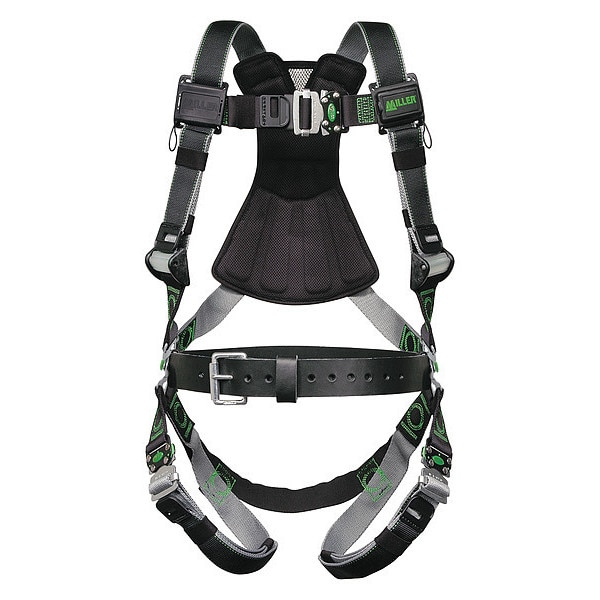 Honeywell Miller Full Body Harness,  Vest Style,  2XL/3XL,  Polyester,  Black RDT-QC-B/XXL/XXXLBK