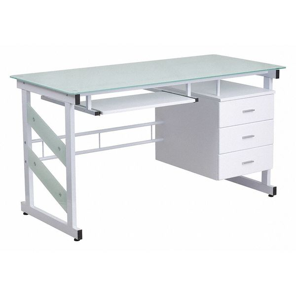"Flash Furniture Computer Desk,  25-1/2"" to 33"" X 55"" X 29-3/4"" NAN-WK-017-GG"