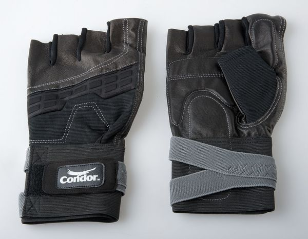 Condor Anti-Vibration Gloves, M, Black/Silver, PR 1EC82