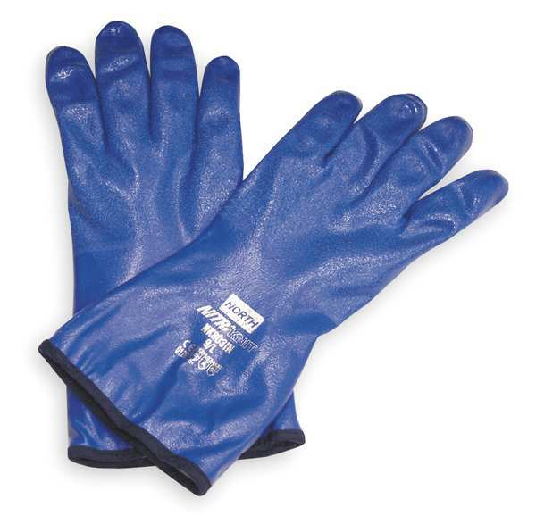 "Honeywell 12"" Chemical Resistant Gloves,  Nitrile,  10,  1 PR NK803IN/10"
