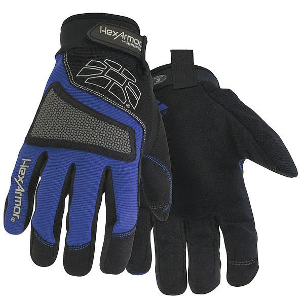 Hexarmor Cut Resistant Gloves, Blue/Black, XL, PR 4018-XL (10)