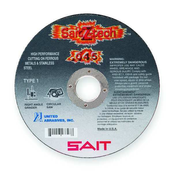 "United Abrasives-Sait CutOff Wheel, Z-Tech, 4-1/2""x.045""x7/8"" 23324"