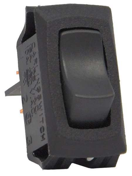 Carling Technologies Rocker Switch,  SPST,  2 Connections,  Switch Function: ON/OFF RA911-RB-B-O-N