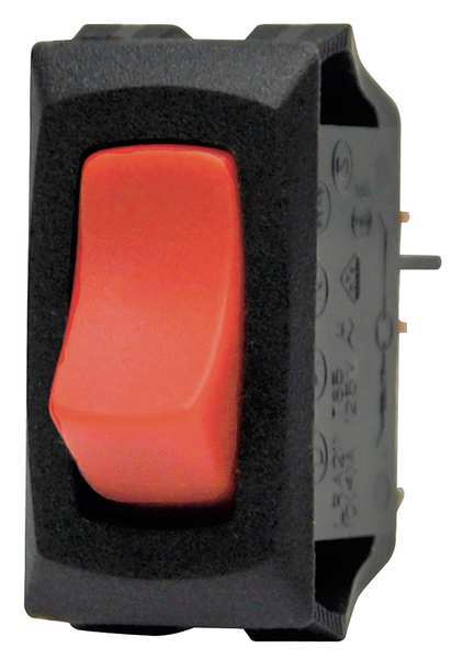 Carling Technologies Lighted Rocker Switch, SPST, 3 Connections LRA911-RS-B/120N