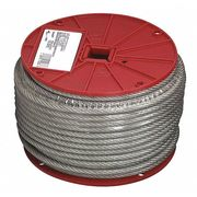 Steel 1//16 in 1x19 Cable L100Ft WLL100Lb