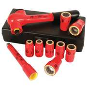 WIHA TOOLS Insulated Socket Wrench Set, 10 pc.