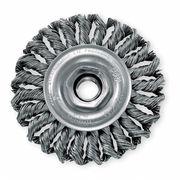 NORTON Wire Wheel Brush,Twisted,Carbon Steel 66252839036