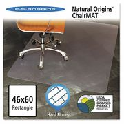 "ES ROBBINS Chair Mat 46""x60"",  Rectangular Shape,  Clear,  for Hard Floor"
